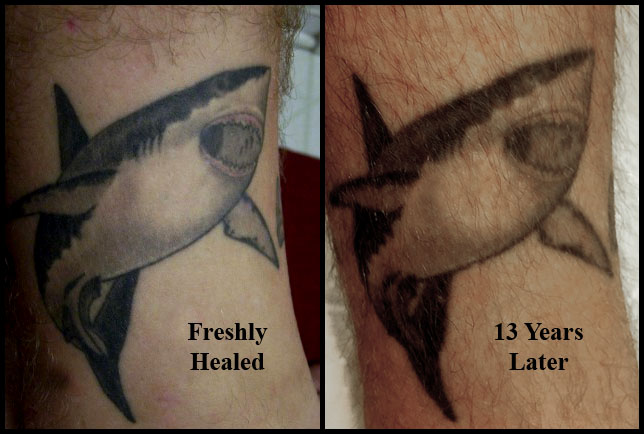 tattoo fading over time